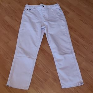 Lee light pink relaxed straight leg jeans